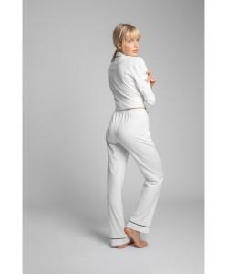 Bawełniane spodnie od piżamy LP020 ecru