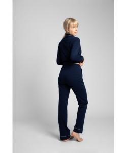 Bawełniane spodnie od piżamy LP020 granat