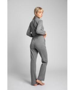 Bawełniane spodnie od piżamy LP020 szary