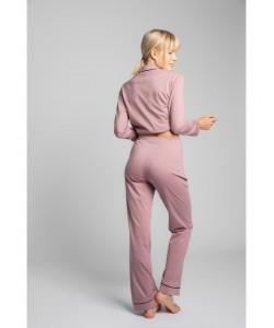 Bawełniane spodnie od piżamy LP020 wrzosowy