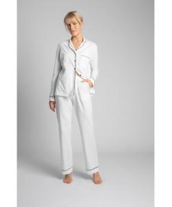 Bawełniana koszula nocna od piżamy LA019 ecru