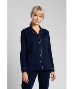 Bawełniana koszula nocna od piżamy LA019 granat