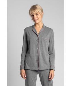 Bawełniana koszula nocna od piżamy LA019 szary