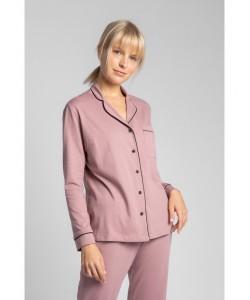 Bawełniana koszula nocna od piżamy LA019 wrzosowy