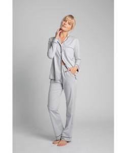 Bawełniana koszula nocna od piżamy LA019 popielaty