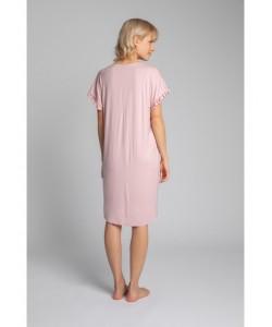 Koszula nocna z falbankami LA030 różowa