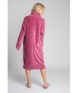 Pluszowa sukienka z kapturem LA002 wrzosowy