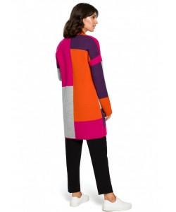 Niezapinany kolorowy kardigan BK011 model3