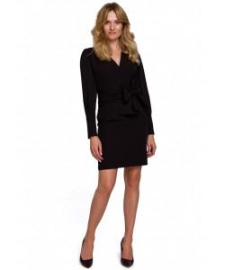 Sukienka z wiązaną kokardą K082 czarna