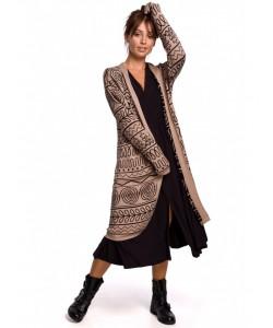 Długi kardigan aztecki wzór BK050 model 3