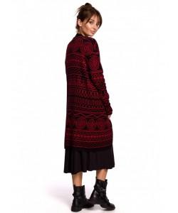 Długi kardigan aztecki wzór BK050 model 2