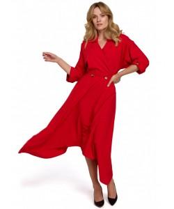 Sukienka z asymetrycznym dołem K086