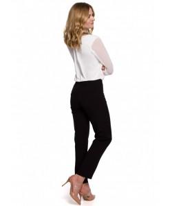 Gładkie spodnie cygaretki  K055 czarne