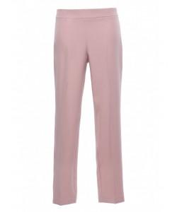 Gładkie spodnie cygaretki K055 róż