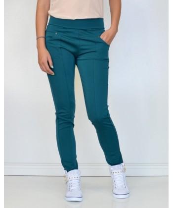 Wysokie spodnie bryczesy SP06 turkus