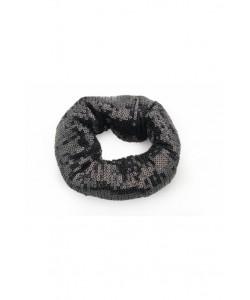 Cekinowa gumka scrunchie AC01 czarna