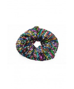 Cekinowa gumka scrunchie AC01 kolorowa