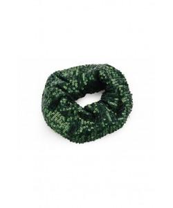 Cekinowa gumka scrunchie AC01 zielona