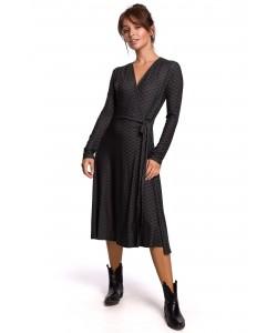 Kopertowa sukienka z wiązaniem B183 model 1