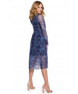 Wzorzysta sukienka z siatki K064 model 1