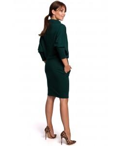 Kimonowa sukienka z dzianiny B175 zielony