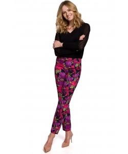 Eleganckie spodnie cygaretki K053 wzrór 2