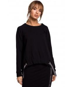 Świetna bluza o oryginalnym kroju Czarna -1