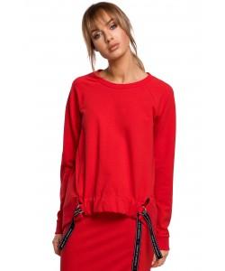 Świetna bluza o oryginalnym kroju Czerwona