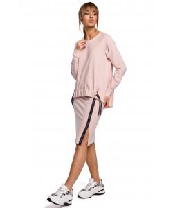 Spódnica dresowa z lampasem - Różowa WKB