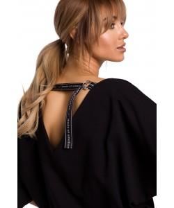 Dresowa sukienka z luźną górą , sukienki damskie, czarna