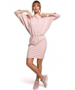 Dresowa sukienka z luźną górą , sukienka damskie, różowa