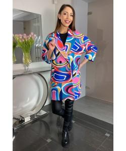 Modny wiosenny płaszcz Oliwia - Kolorowy