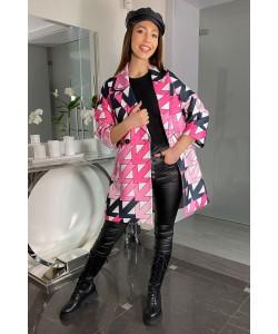 Modny wiosenny płaszcz Oliwia - Strzałki róż