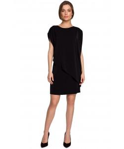 Sukienka bawełniana bombka S262 Czarna