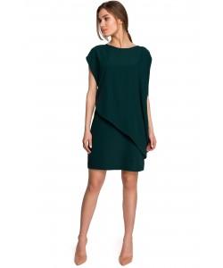 Sukienka bawełniana bombka S262 Zielona