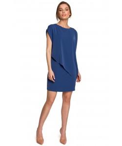 Sukienka bawełniana bombka S262 Niebieska