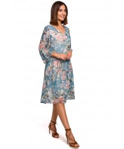 Luźna sukienka damska z szyfonu S214 wzór nr 2