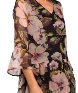 Luźna sukienka damska z szyfonu S214 wzór nr 3