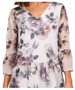 Luźna sukienka damska z szyfonu S214 wzór nr 1
