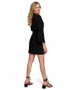 sukienka typu kimono- czarna