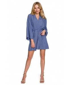 sukienka typu kimono- niebieska