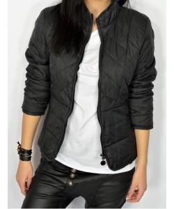 Lekka pikowana kurtka KU03 czarna