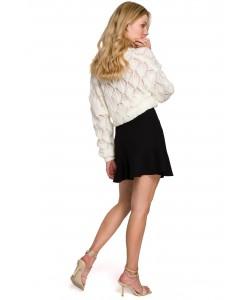Mini spódniczka z falbanką K100 czarny