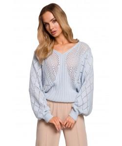 Sweter z rękawami nietoperz M595 błękit