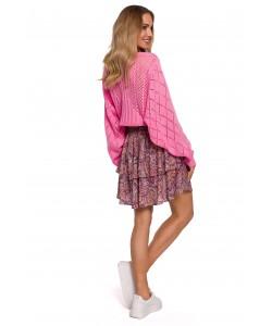 Sweter z rękawami ala nietoperz M595 ecru