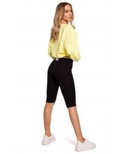 Krótkie legginsy typu kolarki M593 czarny