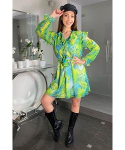 Zwiewna letnia sukienka Ola zieleń