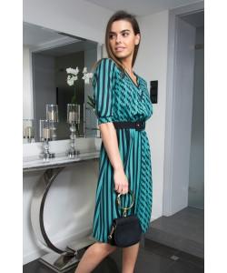 Sukienka podkreślająca talię Monika zieleń