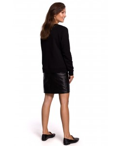 Sportowa baweniana bluza z nadrukiem B167 czarny