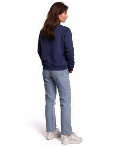 Sportowa baweniana bluza z nadrukiem B167 niebieski